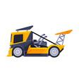 racing truck heavy sport vehicle freight machine vector image vector image