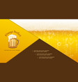 realistic craft beer composition vector image vector image
