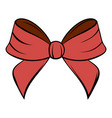 red bow icon cartoon vector image vector image