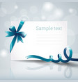 ribbon greeting card vector image vector image