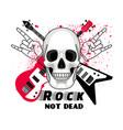 rock festival sticker vector image vector image