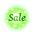 Sale banner with green glittering elements vector image vector image