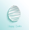 Scribble style Easter egg background vector image vector image