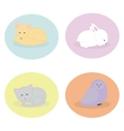 Set of cute animals sleeping vector image vector image