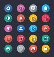 setting simple color icons vector image vector image