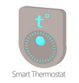 smart thermostat icon cartoon style vector image vector image