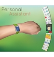 Smart watches on hand vector image
