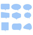 speech bubble icon on white background flat vector image
