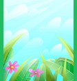 spring or summer nature grass leaves background vector image vector image