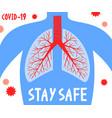 stay safe pandemic medical concept banner vector image