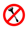 stop razor it is forbidden to shave razor ban vector image
