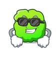 super cool shrub character cartoon style vector image