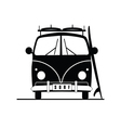 surf vehicle with surboard on it in black vector image vector image