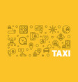 taxi concept outline horizontal banner or vector image