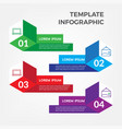 template business infographic vector image vector image