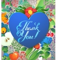 Thank you card in bright colors Stylish floral vector image vector image