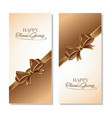 thanksgiving greeting card set vector image vector image