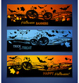 Three Halloween banners vector image