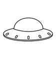 ufo alien spaceship cartoon in black and white
