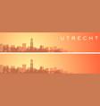 utrecht beautiful skyline scenery banner vector image