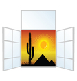 view from the window from the pyramids vector image vector image