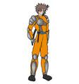 warrior ninja vector image vector image