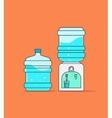 Water cooler dispenser full vector image vector image