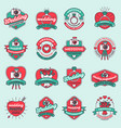 wedding day photography agency fashion badges vector image