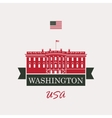 white house washington dc vector image