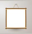 wood frame white board vector image