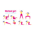 young slim woman workout fitness and aerobic vector image vector image