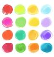 Watercolour marker circle textures drawn Stylish vector image