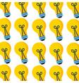 bulb light creativity seamless pattern design vector image