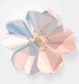 3d origami low polygon flower vector image vector image