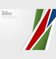 abstract of gradient red blue green paper cut vector image vector image