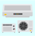 air conditioner airlock systems equipment vector image