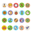 Basic Colored Icons 10 vector image vector image