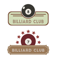Billiard Club vector image vector image