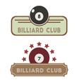 Billiard Club vector image