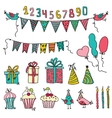 birthday party elements vector image vector image