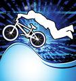 bmx cyclist template vector vector image vector image