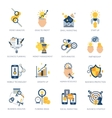 Business Analysis Icons Set vector image vector image