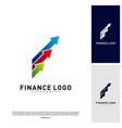 business stats finance logo concept finance logo vector image
