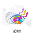 business vision statement eye out segments vector image vector image