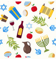 cartoon hanukkah background pattern vector image vector image