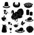 cartoon object for thanksgiving day vector image