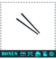 Chopsticks icon flat vector image vector image