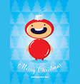 christmas card with boy in fir-tree toy costume vector image vector image