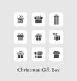 christmas set of gift boxes black vector image