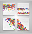 colorful business templates vector image